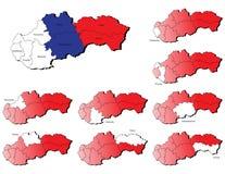 Cartes de provinces de la Slovaquie Images libres de droits