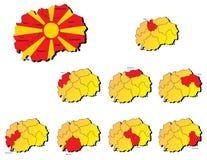 Cartes de provinces de Macédoine Images stock