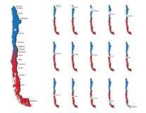 Cartes de provinces du Chili Image libre de droits