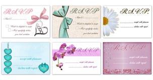 Cartes de Rsvp Image libre de droits