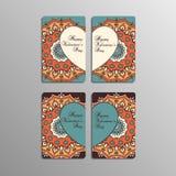 Cartes de Saint-Valentin avec le mandala Photos libres de droits