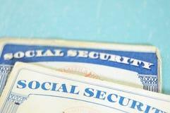 Cartões de segurança social Foto de Stock
