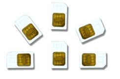 Cartes de Sim Image stock