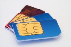 Cartes de Sim Photo libre de droits