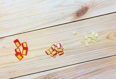 Cartes de SIM de facteur de forme différent (standard, micro, nano) Photo libre de droits