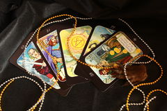 Cartes de tarot, mystiques Photo stock