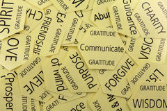 Cartes de thérapie de gratitude images stock