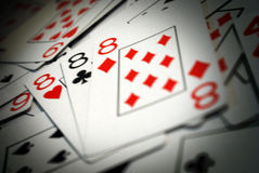 Cartes de tisonnier Photographie stock libre de droits