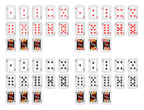 Cartes de tisonnier Photo libre de droits