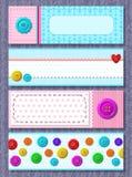 Cartes de vecteur avec les boutons colorés Photo stock