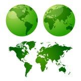 Cartes de vecteur de la terre illustration stock