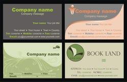 Cartes de visite professionnelle de visite Photographie stock