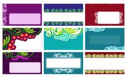 Cartes de visite professionnelle de visite avec les éléments floraux Vecteur illustration libre de droits