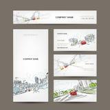 Cartes de visite professionnelle de visite collection, voitures sur la route urbaine pour Images stock