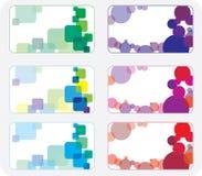 Cartes de visite professionnelle de visite colorées Photos libres de droits