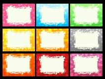 Cartes de visite professionnelle de visite colorées réglées Photographie stock libre de droits