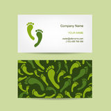 Cartes de visite professionnelle de visite conception, massage de pied Photo libre de droits