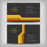 Cartes de visite professionnelle de visite créatrices abstraites de vecteur Photo libre de droits