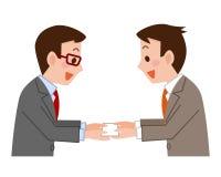 Cartes de visite professionnelle de visite d'échange d'hommes d'affaires illustration stock