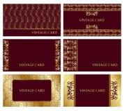 Cartes de visite professionnelle de visite d'or illustration stock