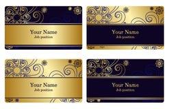 Cartes de visite professionnelle de visite d'or Image stock