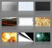 cartes de visite professionnelle de visite d'assortiment neuf Photos libres de droits