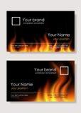 Cartes de visite professionnelle de visite d'incendie Image libre de droits