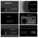 Cartes de visite professionnelle de visite de photographe Photos libres de droits