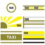 Cartes de visite professionnelle de visite de taxi 90 x 50 millimètres illustration libre de droits