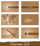 Cartes de visite professionnelle de visite du vecteur 6 Images libres de droits