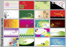 Cartes de visite professionnelle de visite florales illustration stock