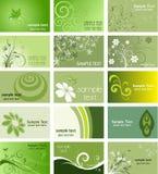 Cartes de visite professionnelle de visite orientées de nature Photographie stock