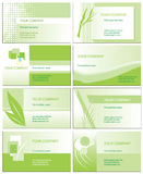 Cartes de visite professionnelle de visite vertes Photo stock
