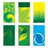 Cartes de visite professionnelle de visite vertes Photographie stock