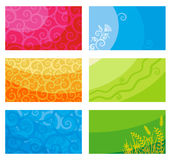 Cartes de visite professionnelle ou drapeaux de visite Photo libre de droits
