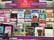 Cartes de voeux à un magasin à succursales multiples Images stock