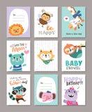 Cartes de voeux illustration stock