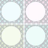 Cartes de voeux de calibre réglées Carte de voeux de vecteur ou fond décorative de conception d'invitation Images libres de droits