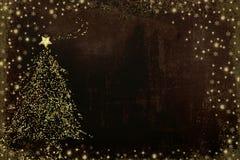 Cartes de voeux d'arbre de nativité de Noël illustration stock