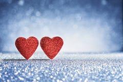 Cartes de voeux de coeurs de jour du ` s de Valentine Photographie stock libre de droits