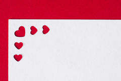 Cartes de voeux de jour du ` s de Valentine Photographie stock libre de droits