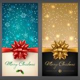 Cartes de voeux de Noël Photos libres de droits