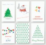Cartes de voeux de Noël Image libre de droits