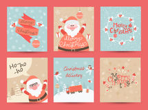 Cartes de voeux de Noël réglées Photo libre de droits