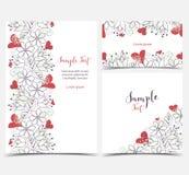 Cartes de voeux florales Images stock