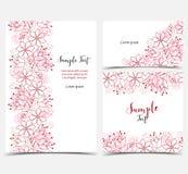 Cartes de voeux florales Photos stock