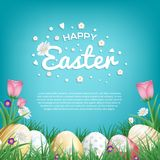 Cartes de voeux heureuses de Pâques Photos stock