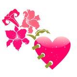 Cartes de voeux de jour du ` s de Valentine Image libre de droits