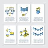Cartes de voeux pour Hanoucca Photos stock