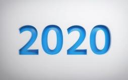 2020 cartes de voeux simple illustration libre de droits